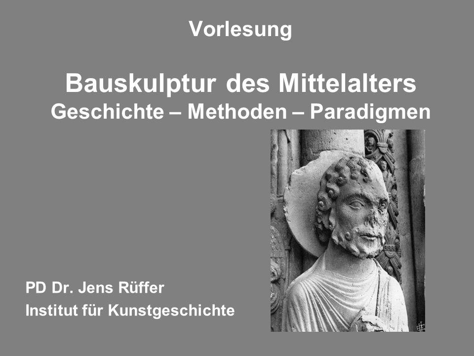 PD Dr. Jens Rüffer Institut für Kunstgeschichte