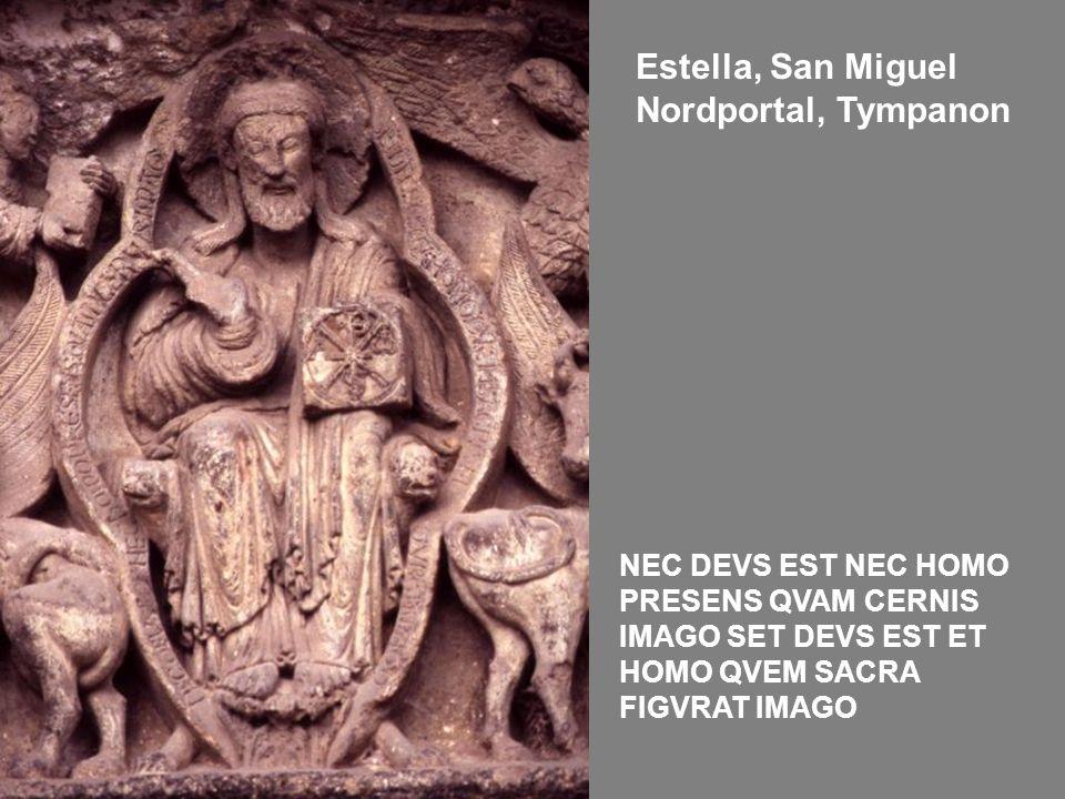 Estella, San Miguel Nordportal, Tympanon