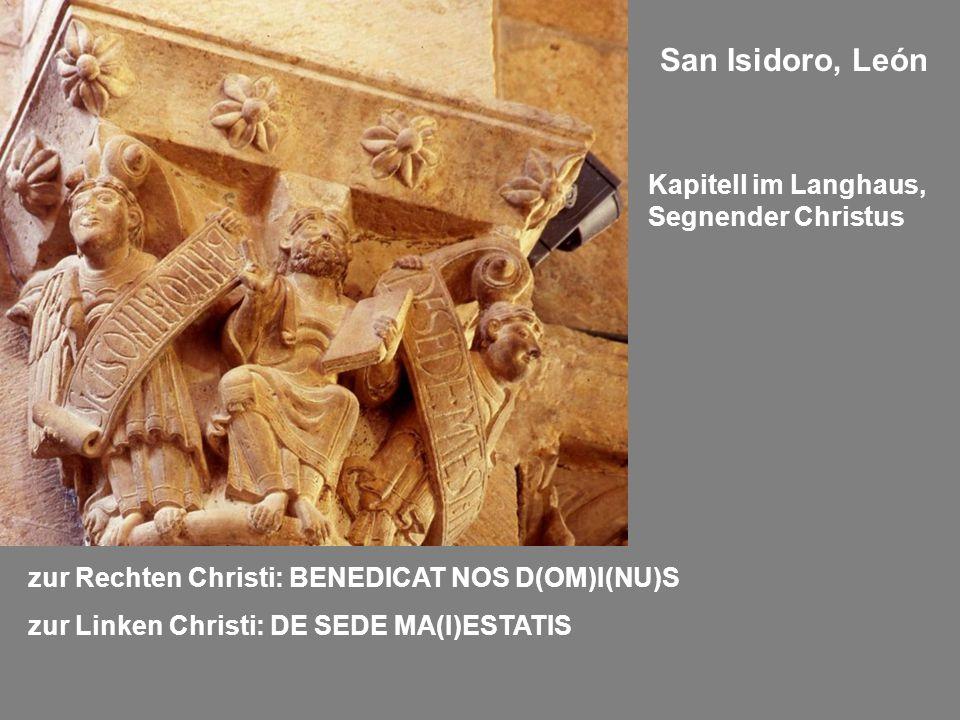 San Isidoro, León Kapitell im Langhaus, Segnender Christus