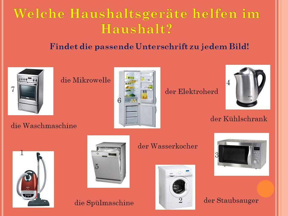 Welche Haushaltsgeräte helfen im Haushalt