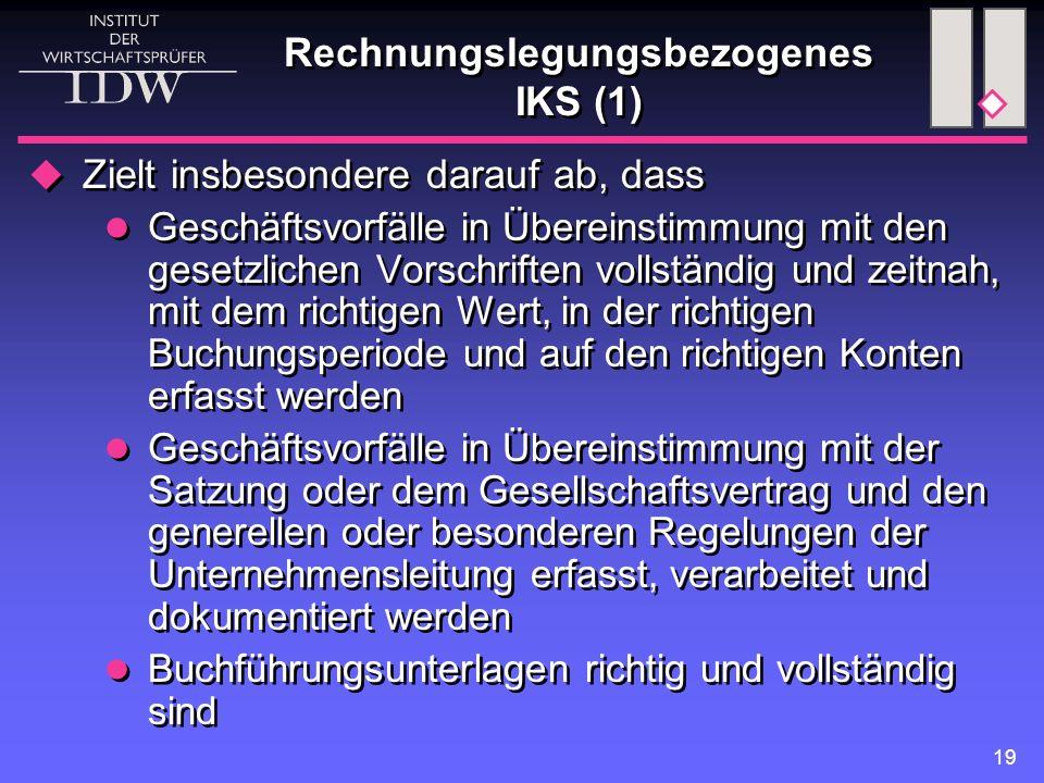 Rechnungslegungsbezogenes IKS (1)