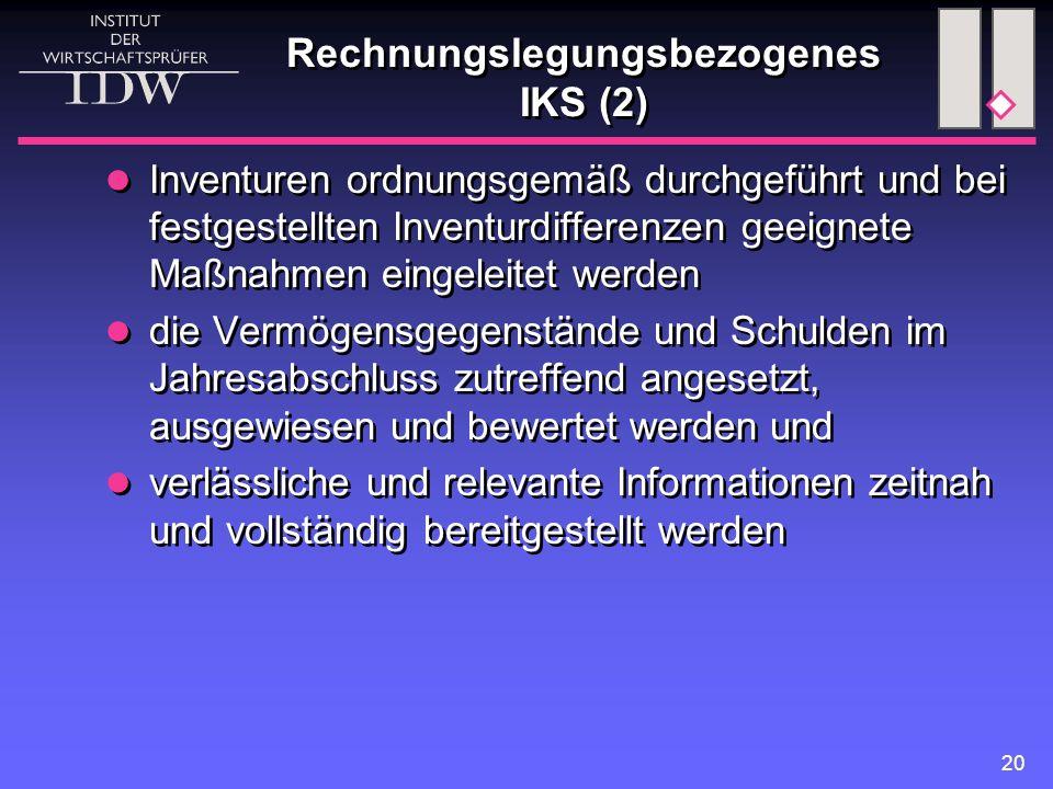 Rechnungslegungsbezogenes IKS (2)