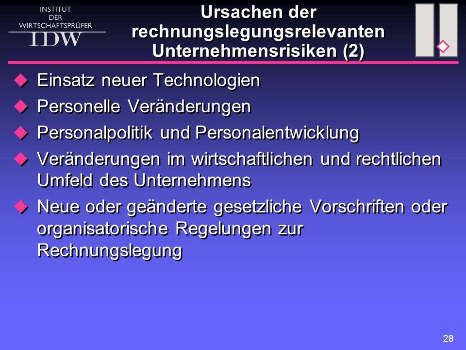 Ursachen der rechnungslegungsrelevanten Unternehmensrisiken (2)