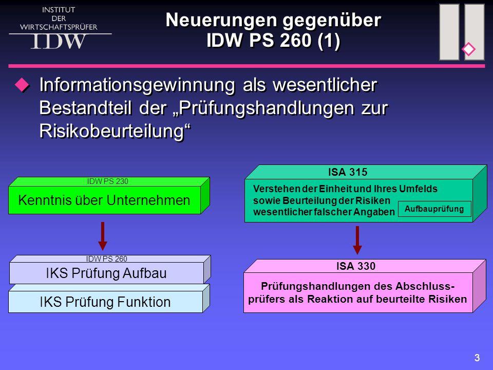 Neuerungen gegenüber IDW PS 260 (1)