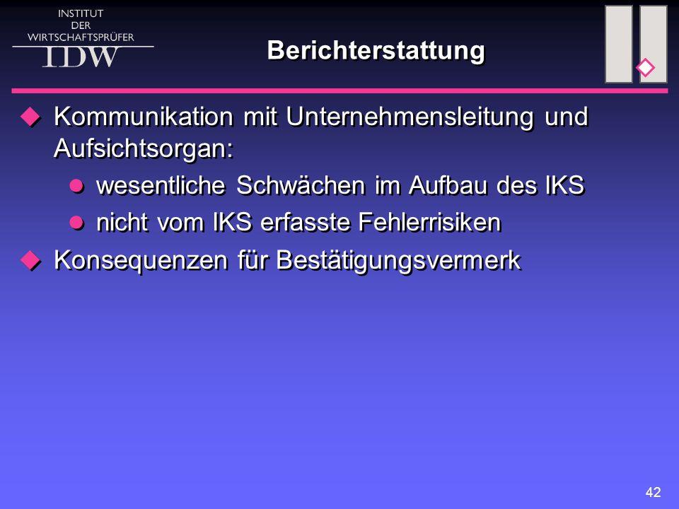 Kommunikation mit Unternehmensleitung und Aufsichtsorgan: