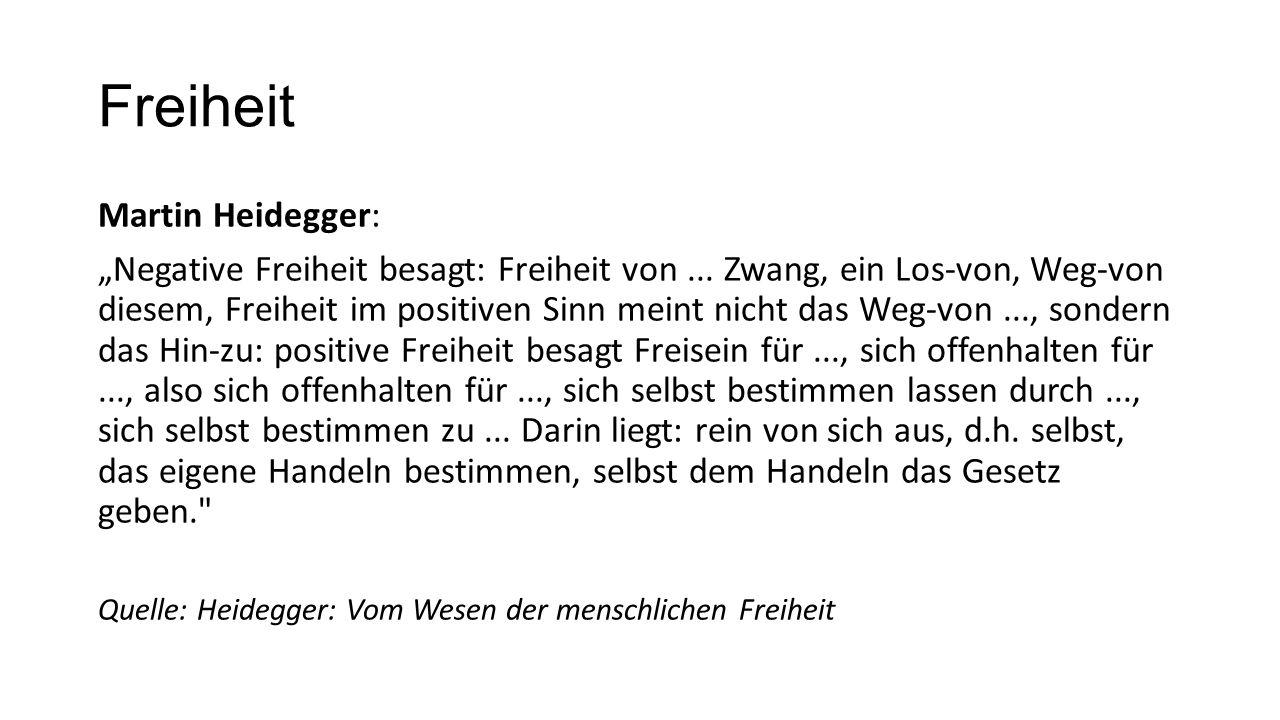 Freiheit Martin Heidegger:
