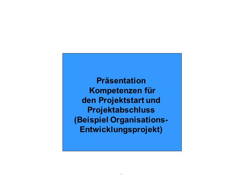 (Beispiel Organisations- Entwicklungsprojekt)