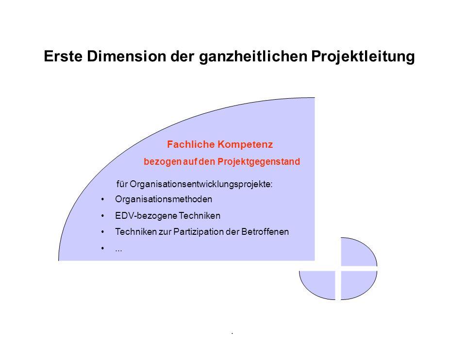Erste Dimension der ganzheitlichen Projektleitung