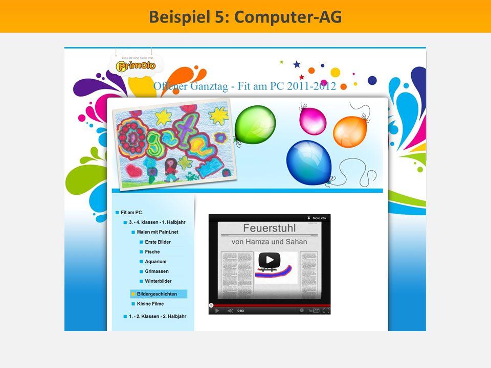 Beispiel 5: Computer-AG