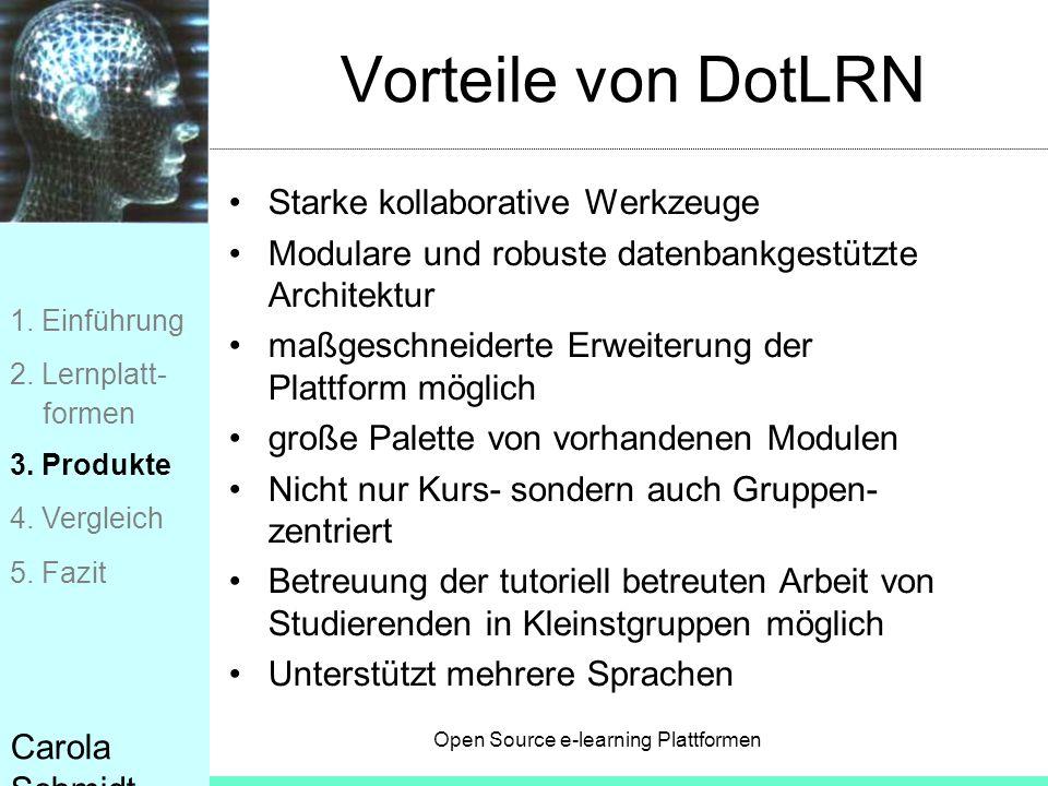 Vorteile von DotLRN Starke kollaborative Werkzeuge