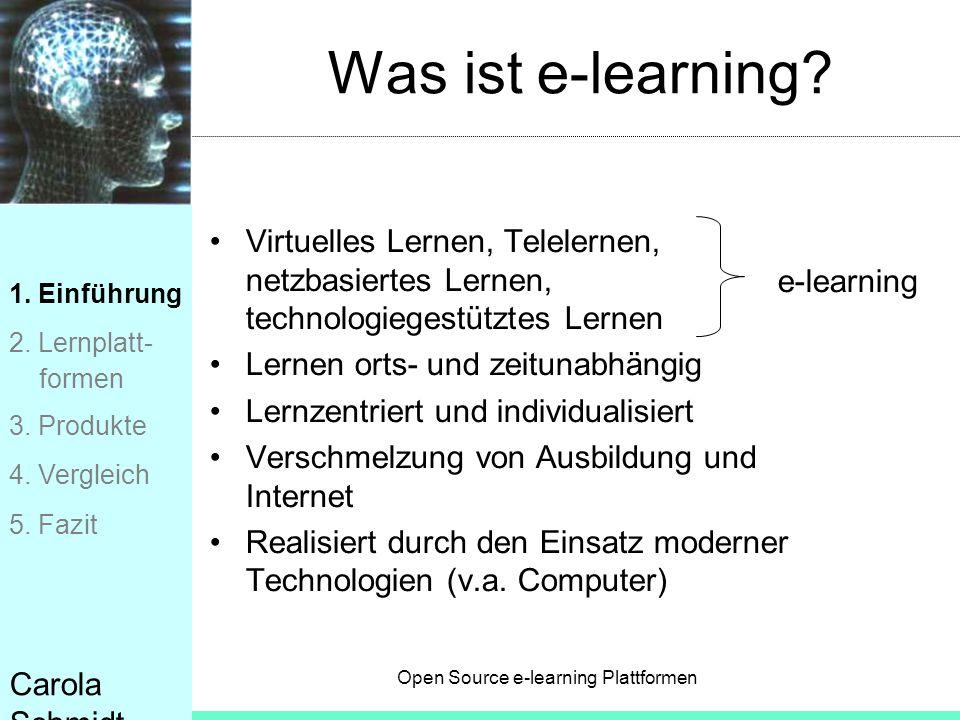Was ist e-learning Virtuelles Lernen, Telelernen, netzbasiertes Lernen, technologiegestütztes Lernen.