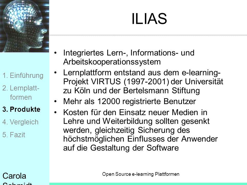 ILIAS Integriertes Lern-, Informations- und Arbeitskooperationssystem