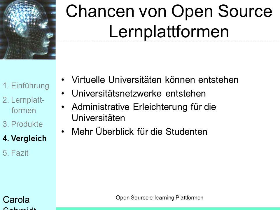 Chancen von Open Source Lernplattformen