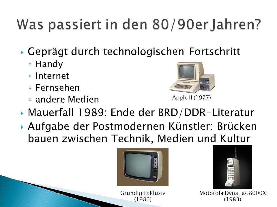 Was passiert in den 80/90er Jahren