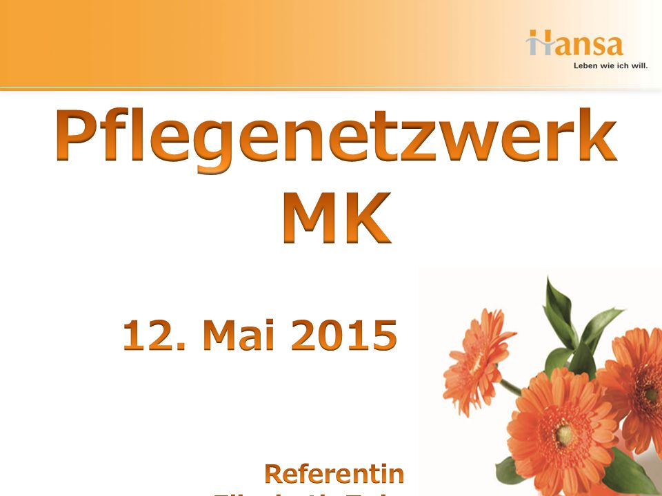 Pflegenetzwerk MK 12. Mai 2015 Referentin Elisabeth Zubarev