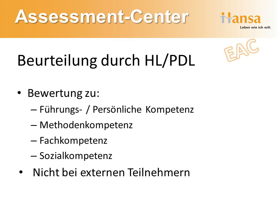 Beurteilung durch HL/PDL