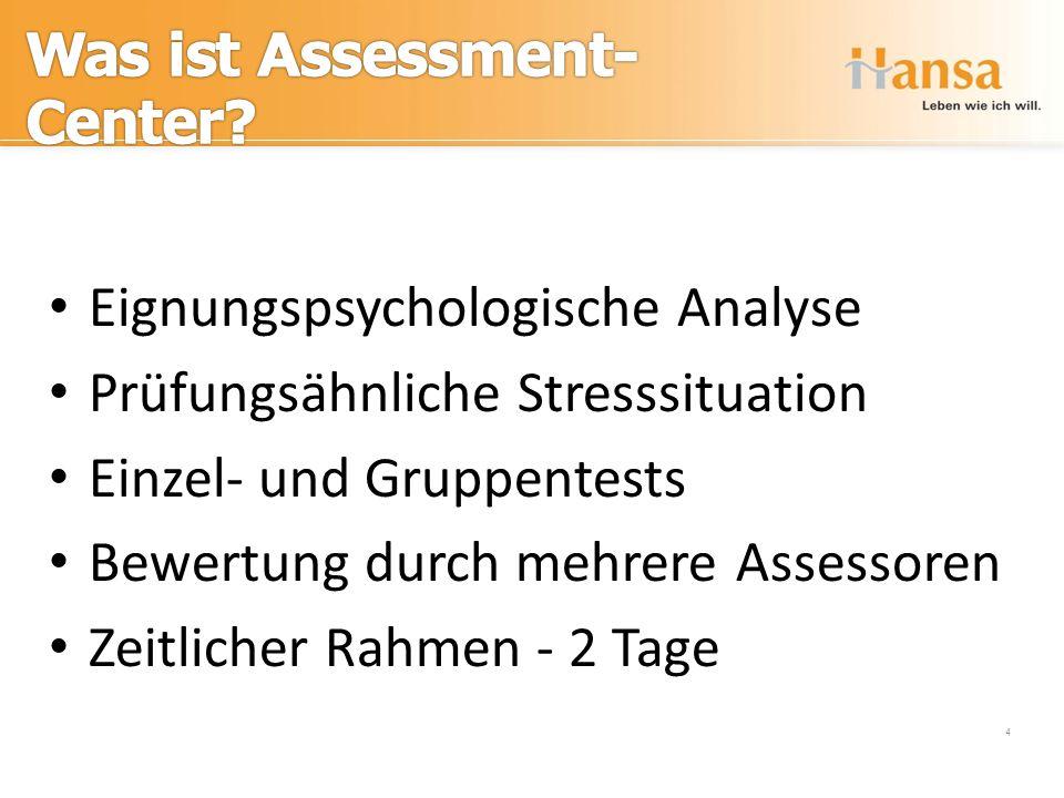 Eignungspsychologische Analyse Prüfungsähnliche Stresssituation