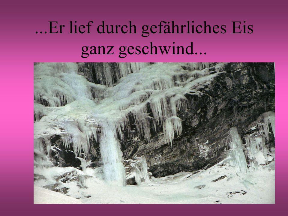 ...Er lief durch gefährliches Eis ganz geschwind...