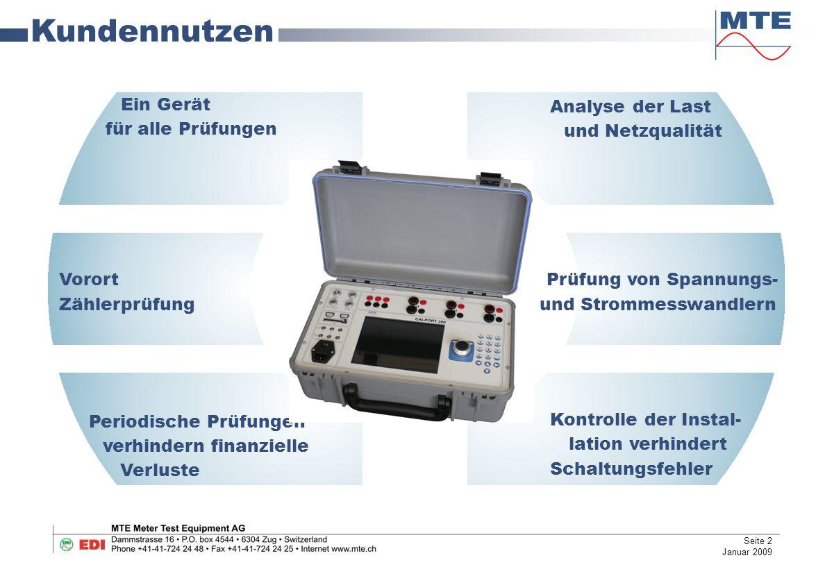Kundennutzen Ein Gerät Analyse der Last für alle Prüfungen