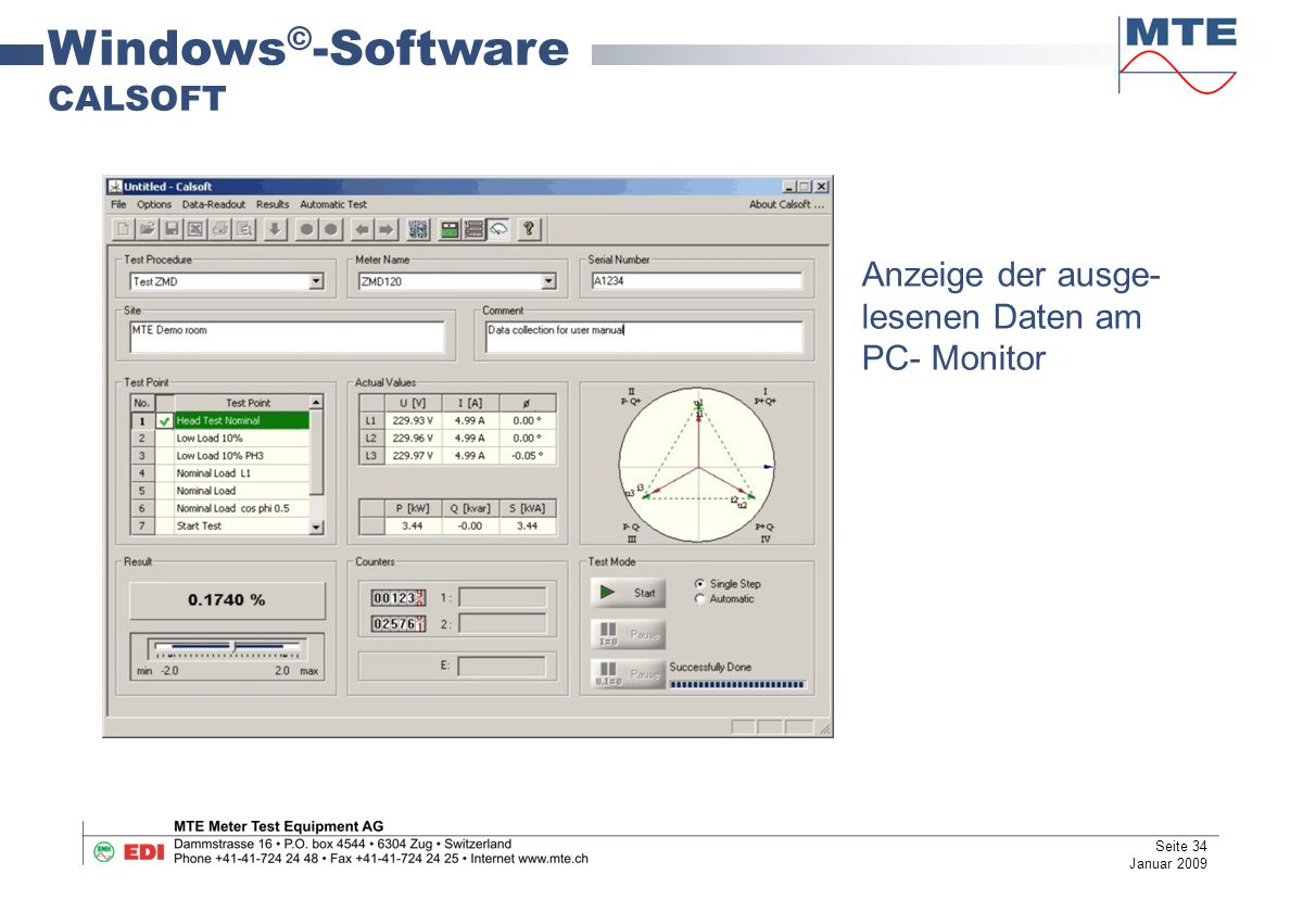 Windows©-Software CALSOFT