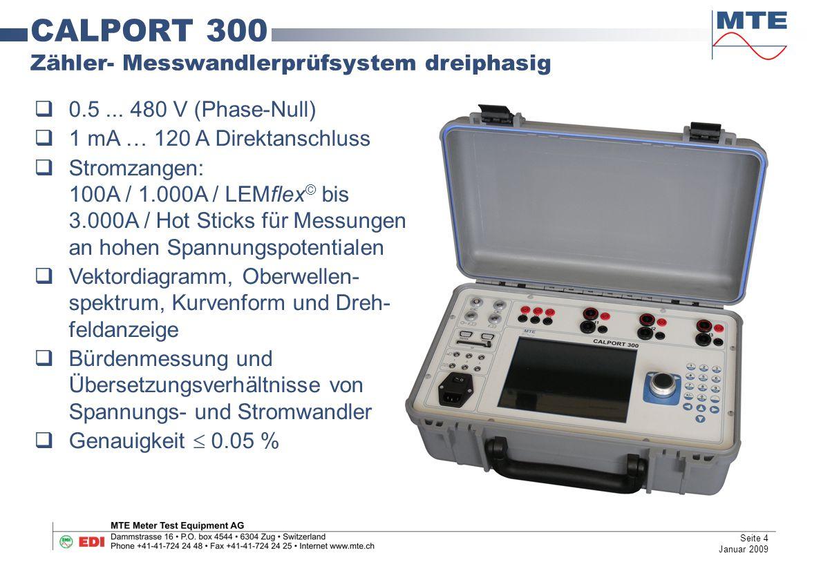 CALPORT 300 Zähler- Messwandlerprüfsystem dreiphasig