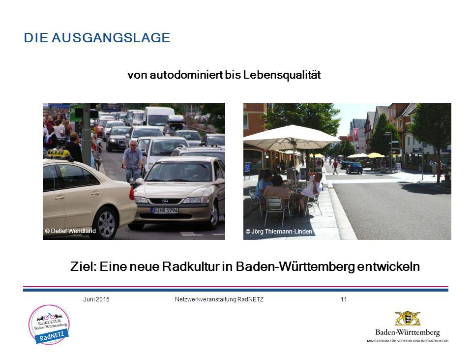 Ziel: Eine neue Radkultur in Baden-Württemberg entwickeln