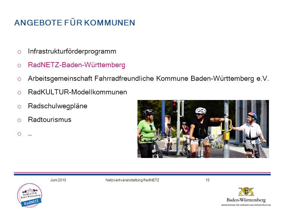 ANGEBOTE FÜR KOMMUNEN Infrastrukturförderprogramm