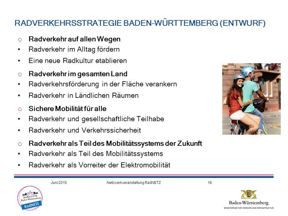 RADVERKEHRSSTRATEGIE BADEN-WÜRTTEMBERG (ENTWURF)