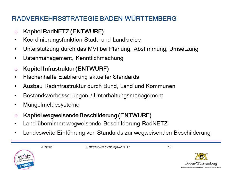 RADVERKEHRSSTRATEGIE BADEN-WÜRTTEMBERG