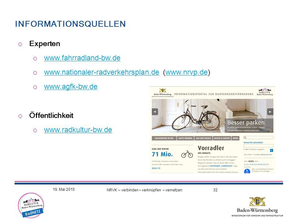 Informationsquellen Experten www.fahrradland-bw.de