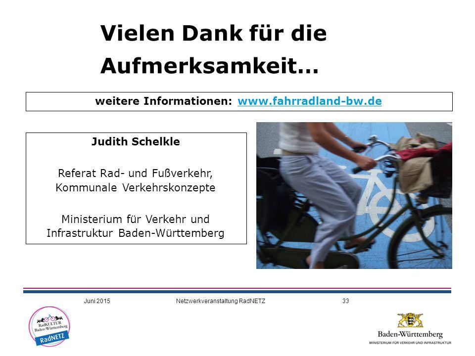 weitere Informationen: www.fahrradland-bw.de