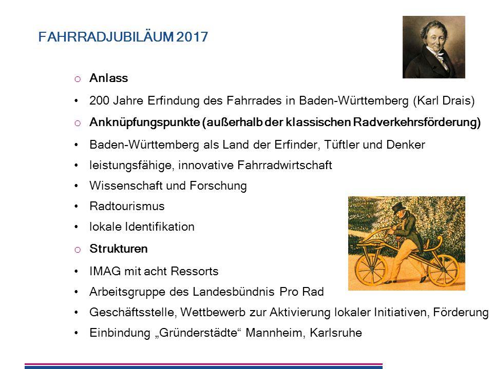 FAHRRADJUBILÄUM 2017 Anlass