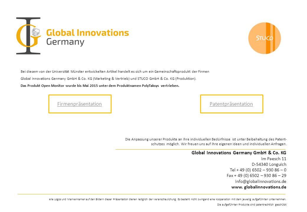 Firmenpräsentation Patentpräsentation