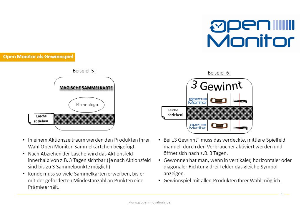 Open Monitor als Gewinnspiel