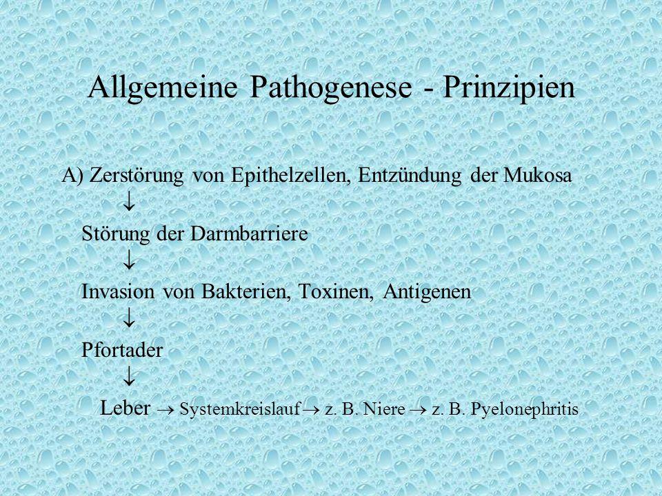 Allgemeine Pathogenese - Prinzipien