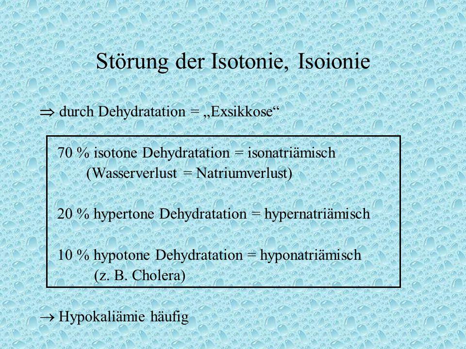 Störung der Isotonie, Isoionie