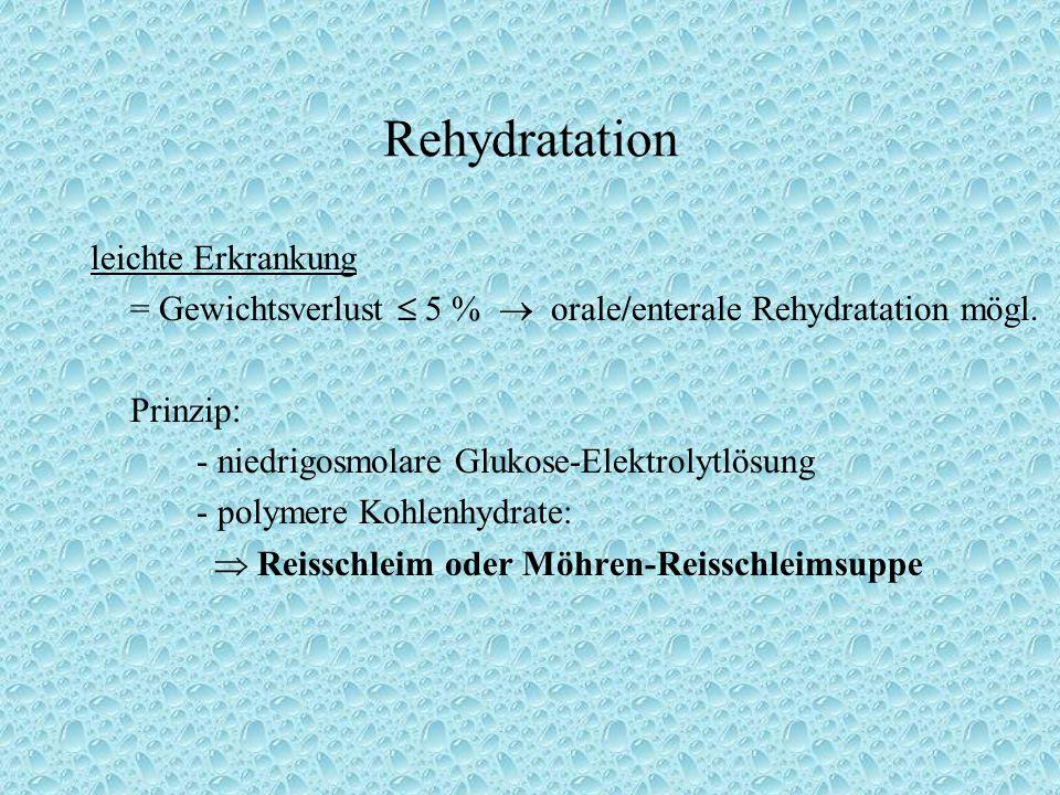 Rehydratation leichte Erkrankung