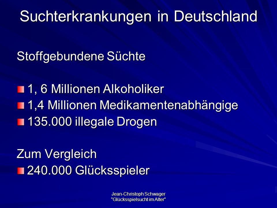 Suchterkrankungen in Deutschland