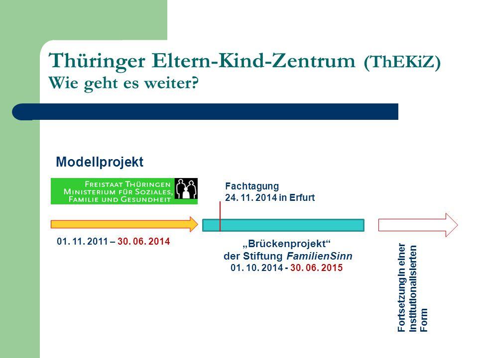 Thüringer Eltern-Kind-Zentrum (ThEKiZ) Wie geht es weiter