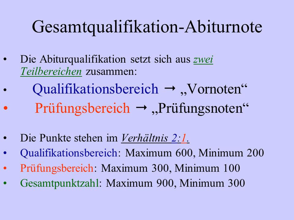Gesamtqualifikation-Abiturnote