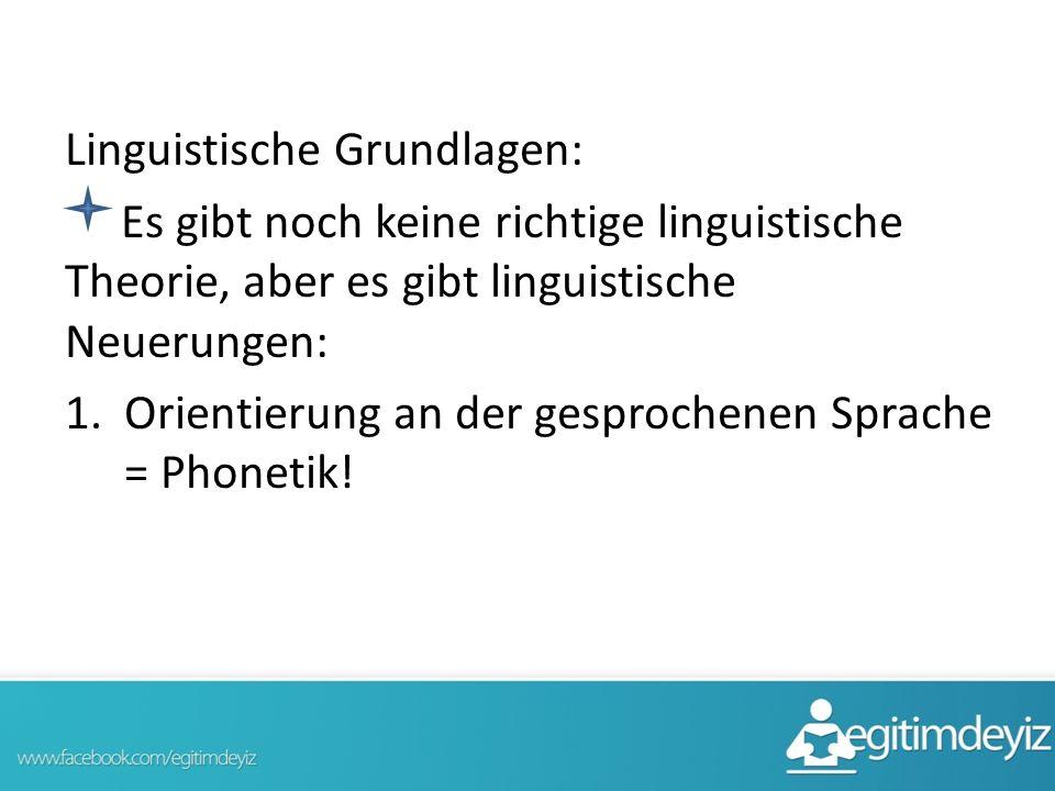 Linguistische Grundlagen: