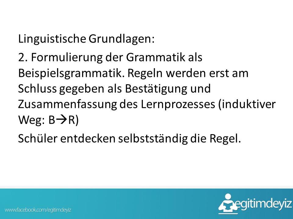 Linguistische Grundlagen: 2