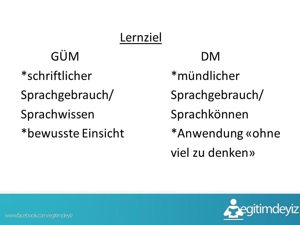 Lernziel GÜM DM. schriftlicher
