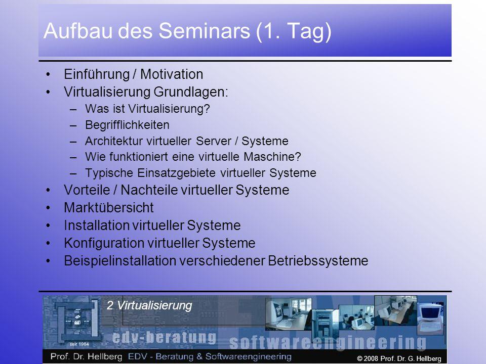 Aufbau des Seminars (1. Tag)