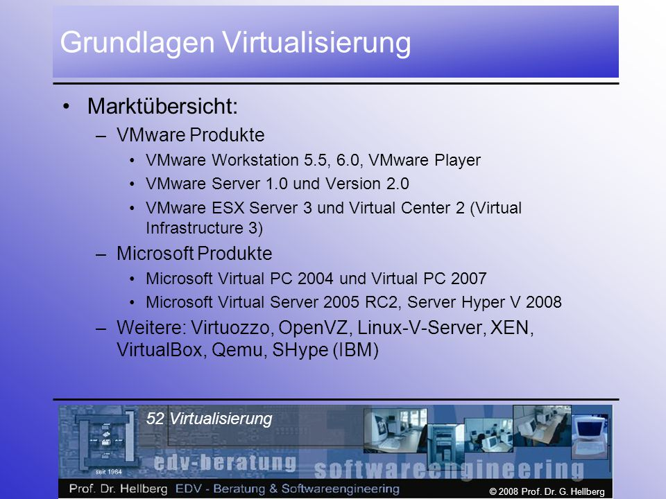Grundlagen Virtualisierung