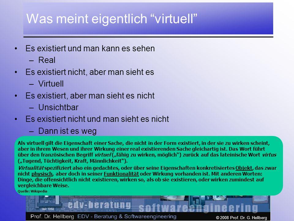 Was meint eigentlich virtuell