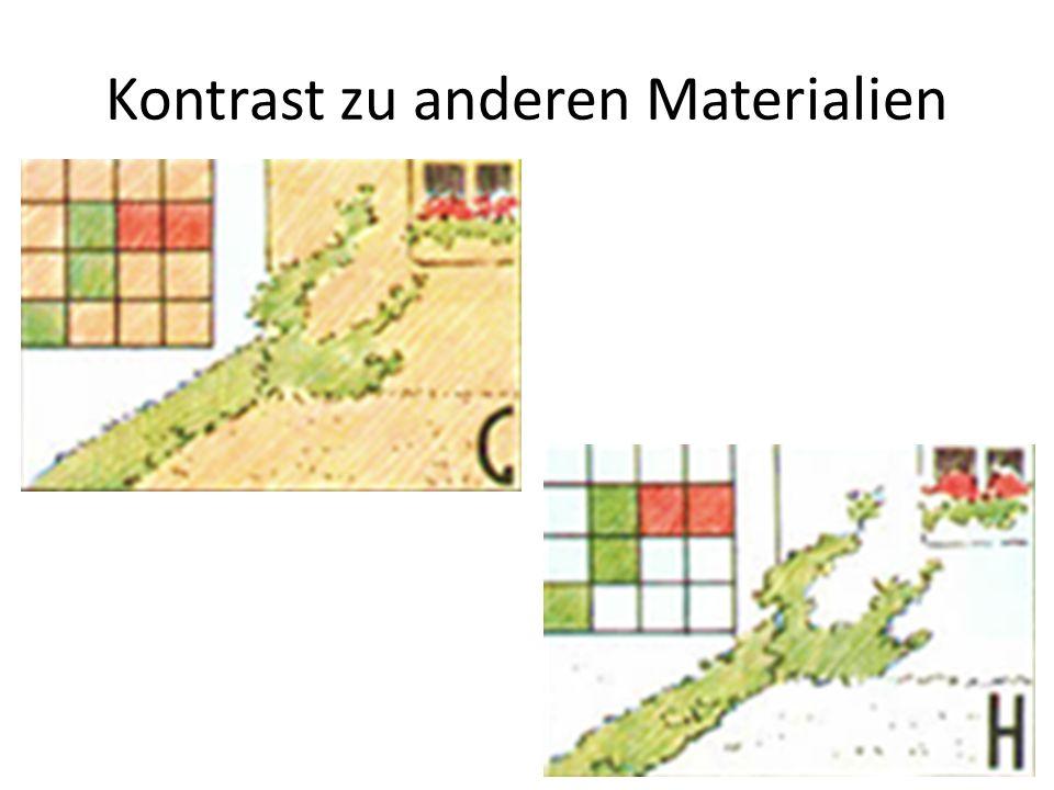 Kontrast zu anderen Materialien