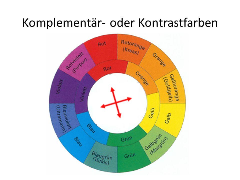 Komplementär- oder Kontrastfarben