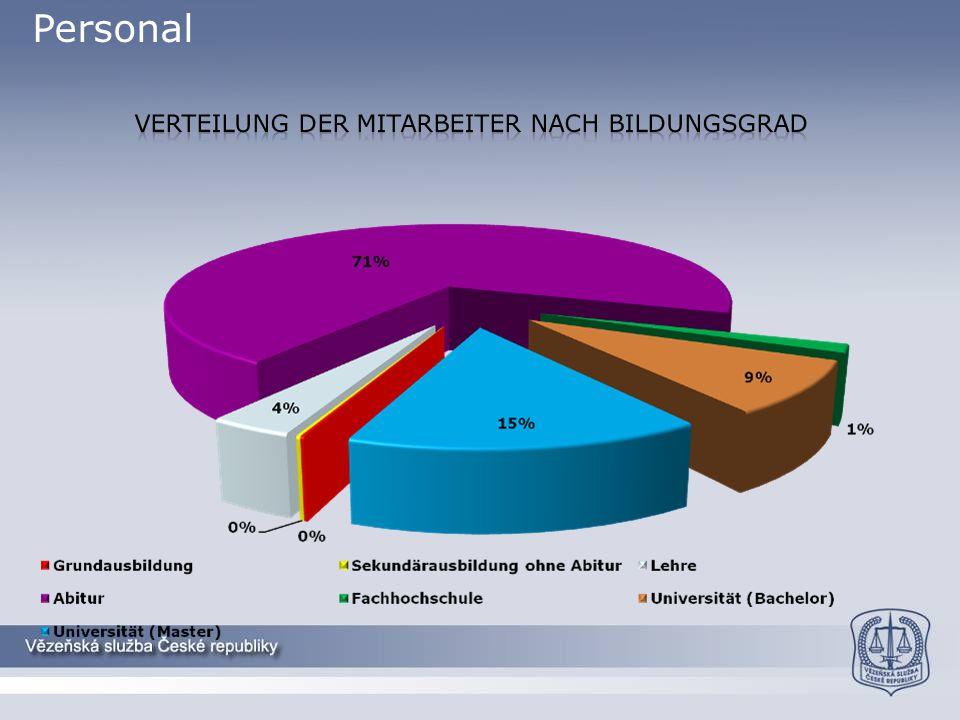 Personal Verteilung der Mitarbeiter nach bildungsgrad