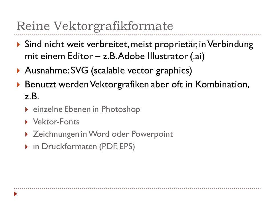 Reine Vektorgrafikformate